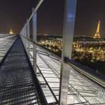 Tour Eiffel depuis le chemin de ronde de la verrière du Grand-Palais