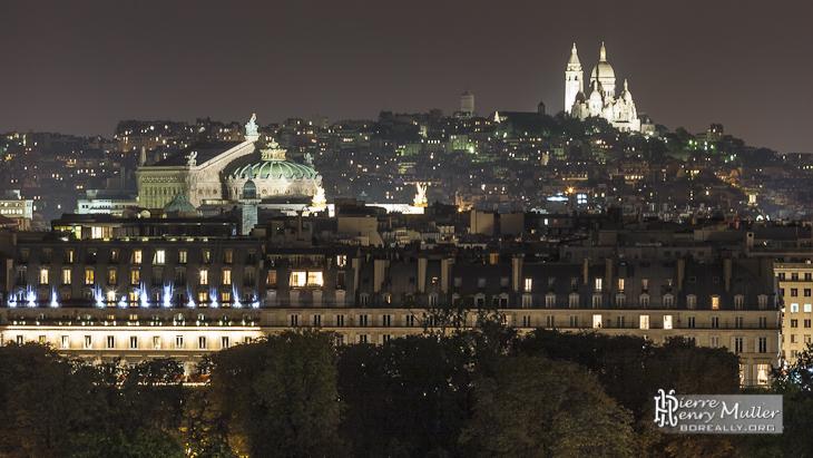 Panoramique sur les toits de Paris Rivoli, Opéra Garnier, Sacré Coeur