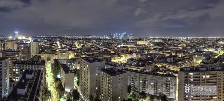 Panoramique de Levallois quartier Eiffel depuis la tour So Ouest