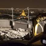 Invalides et Paris de nuit vu depuis le toit de la tour Paris Côté Seine
