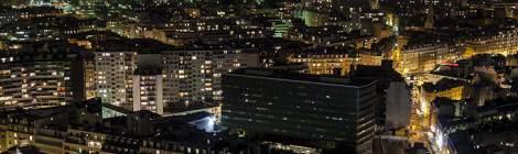 Quartier des Invalides et les toits de Paris alentours depuis la tour Paris Côté Seine dans le quartier Beaugrenelle.