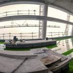 Panoramique test d'étanchéité d'une terrasse technique de la tour T1 GDF Suez