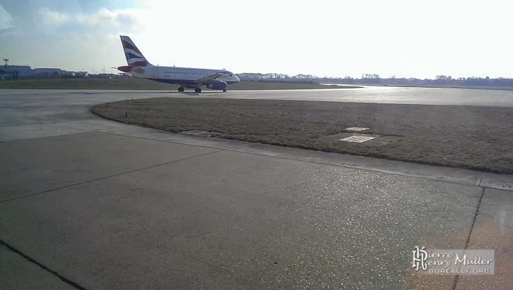 Avion au roulage à Orly