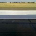 Marquage de la zone de touché de roues piste 24 Orly