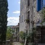 Ruelle et maisons médiévale à la bastide de Cordes sur Ciel