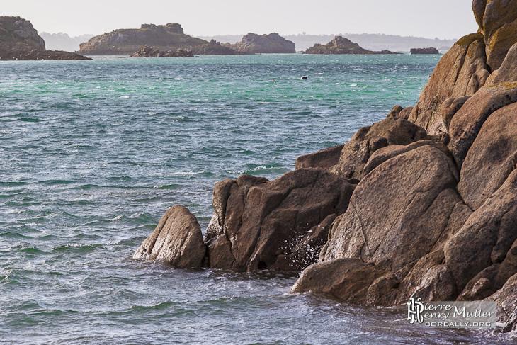 Rochers et différents récifs autour de l'Ile de Bréhat