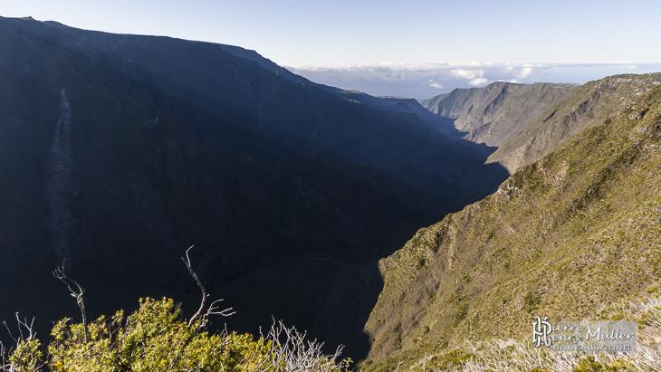 Canyon de la rivière des Remparts à la Réunion