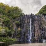 Cascade Niagara pendant la période sèche sur l'Ile de la Réunion