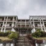 Hôtel en friche au cirque de Cilaos à la Réunion