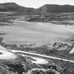 Plaine des sables en N&B lieu de tournage de la planète des singes