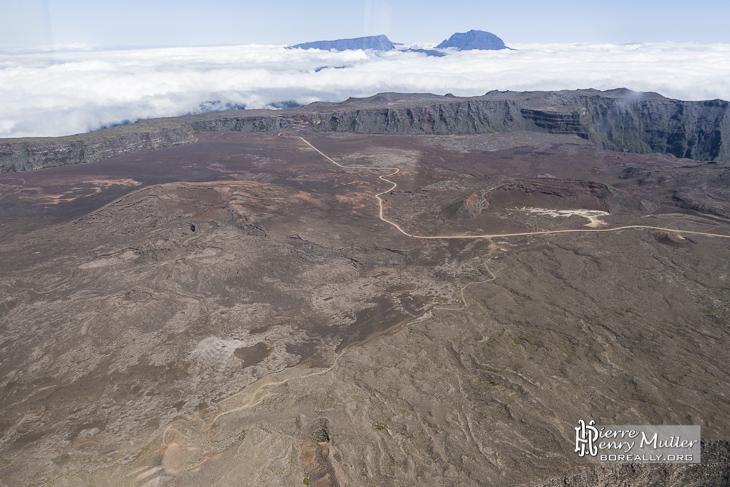 Plaine des Sables à la Réunion vue du ciel