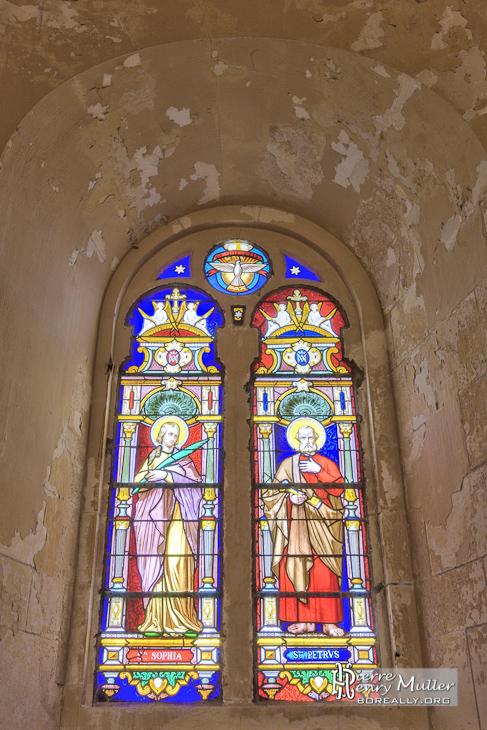 Vitraux de la chapelle du phare de Cordouan en HDR